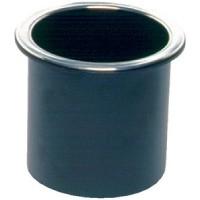 Beckson, Glass Holder Black W/Chrome Rim, GH33B1C