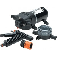 Flojet, Quad Series Water Jet Washdown Pump Kit w/Strainer & Nole, 04305144L