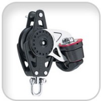Harken, 57mm Carbo Block w/Cam Cleat and Becket, 2616