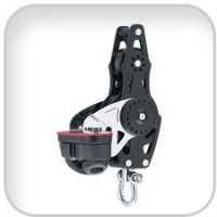 Harken, 57mm Carbo Fiddle w/Cam Cleat & Becket, 2624