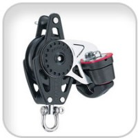 Harken, 40mm Carbo Block w/Cam Cleat and Becket, 2646