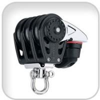 Harken, 40mm Triple Carbo Block w/Cam Cleat, 2647