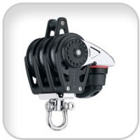 Harken, 40mm Triple Carbo Block w/Cam Cleat and Becket, 2648
