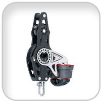 Harken, 57mm Carbo Fiddle Ratchet w/Becket and 150 Cam, 2676