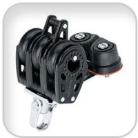 Harken, 29mm Triple Carbo Block w/Cam Cleat & Becket, 347