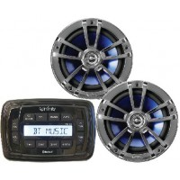 Infinity Marine, MPK250 AM/FM/USB Bluetooth+S186 Stereo Package, INFMPK250