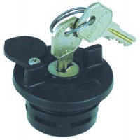 Perko, Locking Gas Cap Black, 1324DP1BLK