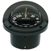 Ritchie, Helmsman Compass-Flush Mt., Flat Dial, Black, HF742