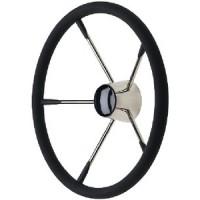 Seachoice, SS Destroyer Steering Wheel w/Foam Grip & Black Cap, 28581