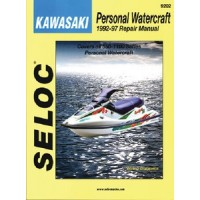 Seloc Manuals, Seloc Marine Tune-Up Manuals, PWC Manual Kawasaki 1992-97, 9202