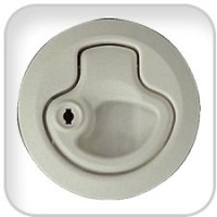 Teak Isle, Latch Flush Locking White, 29201