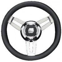 Uflex, Morosini Steering Wheels, Black Poly Chrome, MOROSINIUCHB