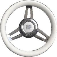 Uflex, Morosini Steering Wheels, White Poly Chrome, MOROSINIUCHW