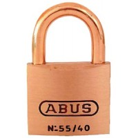 Abus Locks, Padlock Key #5404 Brass 1-1/2I, 55886