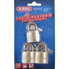 Abus Locks, Padlock Brass 1-1/4 Key 3/Cd, 56413
