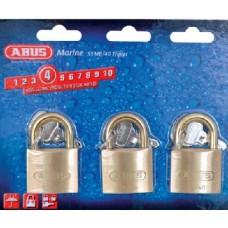 Abus Locks, Padlock Brass 1-1/2 Ka 3/Cd, 56613