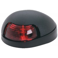 Attwood, Sidelight, Red w/Black Cover, 3150R7