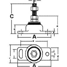 Barr Manifolds, Rubber Engine Mount, 80006
