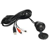 Jensen, Waterproof USB & Auxiliary Audio Input Jack, JENAUX
