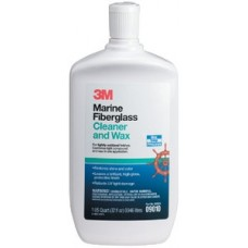 3M Marine, Liquid Fiberglass Cleaner and Wax, 32 oz., 09010