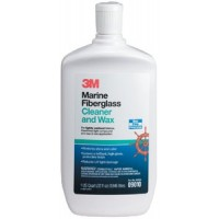 3M Marine, Liquid Fiberglass Cleaner and Wax, Gal., 09011