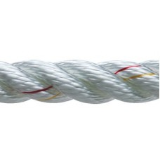 New England Ropes Inc, 3 Strand Nylon Dockline, 3/8 x 25 White, 60501200025
