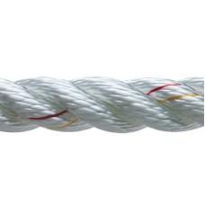 New England Ropes Inc, 3 Strand Nylon Dockline, 1/2 x 25 White, 60501600025