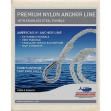 New England Ropes Inc, Anchorline 3/8 X 100 Nylon, 60601200100