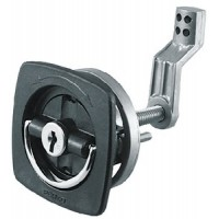 Perko, 2-1/2X2-1/2 Black Flush Latch, 0931DP1BLK