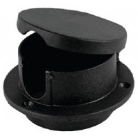 Perko, Rope Deck Pipe Plastic Black, 1057DP0BLK