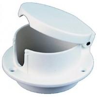 Perko, White Plastic Rope Deck Pipe, 1057DP0WHT