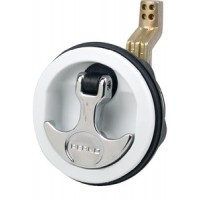 Perko, Hatch Pulls Flush Lock White, 1091DP1WHT
