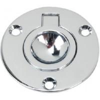 Perko, Flush Round Ring Pull 1-5/8, 1232DP1CHR