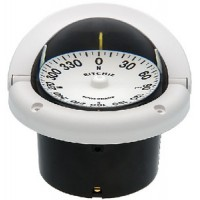 Ritchie, Helmsman Compass-Flush Mt., Flat Dial, White, HF742W