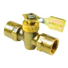 Seachoice, Brass Two Way Fuel Line Valve, 3/8 x 3/8 Female/Female, 20741