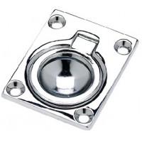 Seachoice, Flush Ring Pull, Chrome/Brass, Small, 36661