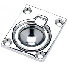 Seachoice, Flush Ring Pull, Chrome/Brass, Large, 36681