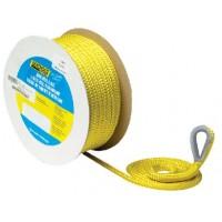 Seachoice, Double Braid Nylon Anchor Line, Yellow 3/8