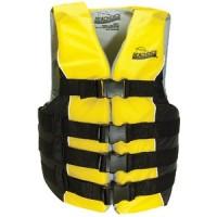 Seachoice, Deluxe 4-Belt Ski Vest, Black/Yellow, Sm/Med, 86410