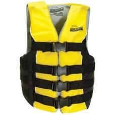 Seachoice, Deluxe 4-Belt Ski Vest, Black/Yellow, Sm/Med, 86410
