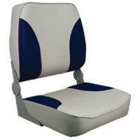 Springfield, XXL Folding Chair, Gray/Navy, 1040691