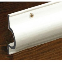 Taylor Made Products, White, C-Shape Double Molded Vinyl Dock Edging. 8' Straight, 46070