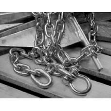 Tie Down Engineering, Danforth 3/8X6 SS Chn W/Shackl, 95226
