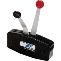 Uflex, Single Function Dual Lever Side Mount Control, Black, B49