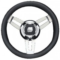 Uflex, Morosini Steering Wheels, Black Poly Chrome, MOROSINIUCHB