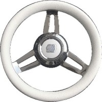 Uflex, Morosini Steering Wheels, White Poly Chrome, MOROSINIUCHW