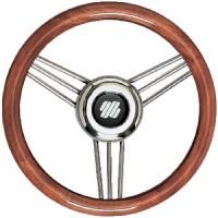Uflex, Mahogany Non-Magnetic Stainless Steel Steering Wheel, V26