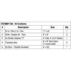 Webasto, Duct Kit Premium 5000-9000, FCF000113A