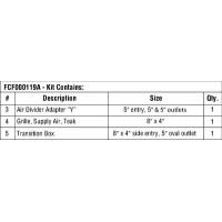 Webasto, Additional Duct Kit Premium 12000-16000, FCF000119A