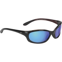 Yachter's Choice, Redfish Polarized Blue Mirror Lens Sunglasses w/Red Crystal Backspray, 42303